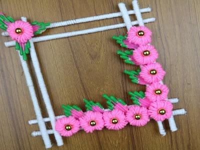 How To Make Beautiful Woolen Wall Hanging | Best out of waste - Best reuse ideas - Woolen Craft idea