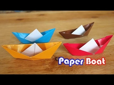 HOW TO MAKE BOAT FROM PAPER II EASY ORIGAMI