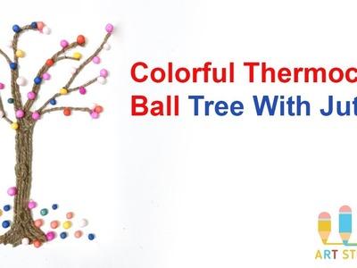 How To Make Colorful Thermocol Ball Tree | Thermocol Ball Crafts