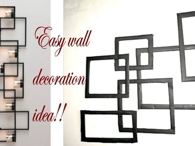 How to make easy wall hanging with waste material||ART&CRAFT