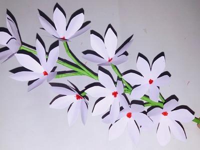 Flower How To Make A Flower Vase At Home Making Paper Flower Diy