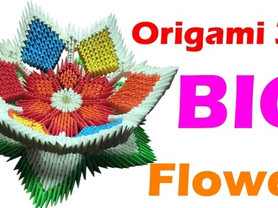 How To Make Origami 3D Flower With 4 Step - Tutorials Paper Origami Easy Making