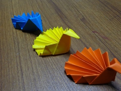 How to make origami peacock | Simple paper peacock making step by step tutorial