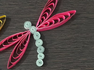 How to make | Quilling Dragonfly| Simple and easy method 1