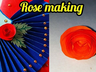 How To Make Rolled Paper Roses | DIY Rolled Paper Flowers | sweety trendzzz
