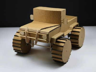 How to  Make Simple Monster Truck (Cardboard Car)