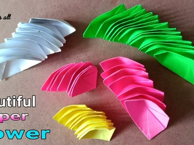 How to make water flower. make a paper water lily
