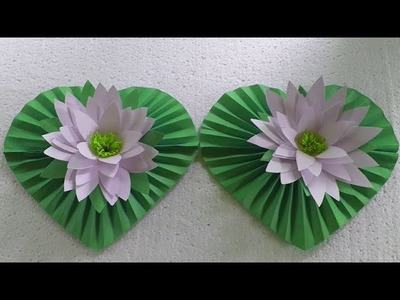 How To Make Water Lily With Paper. Sapla Ful. Bijoy Sapla. Bijoy Ful.