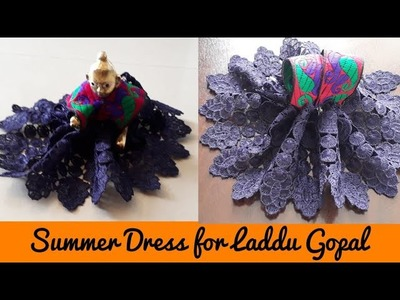 Make Easy Summer Dress for Laddu Gopal|Kanhaji ki Summer Poshak Step by Step| Quicky Crafts