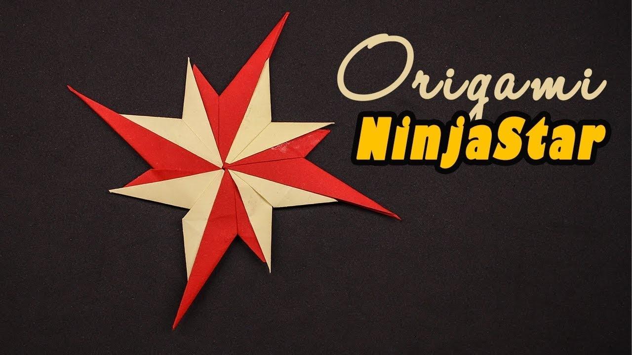 New #Origami #Ninja Star 8 Points - How to make #Paper Ninja Star