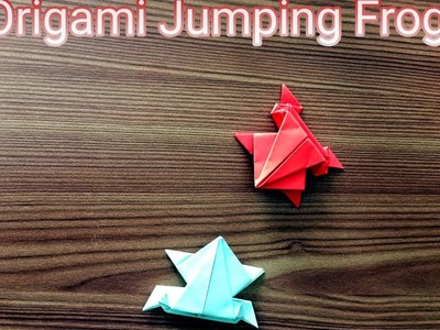 Origami jumping frog ???? | How to make jumping frog |LETZCRAFT