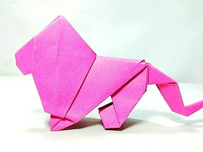 Origami Lion - Lime Lapse || How to make Paper Lion || DIY