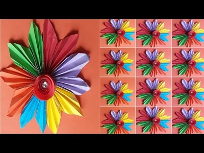 "Paper folding art origami "" how to make papierblumen basteln flower"
