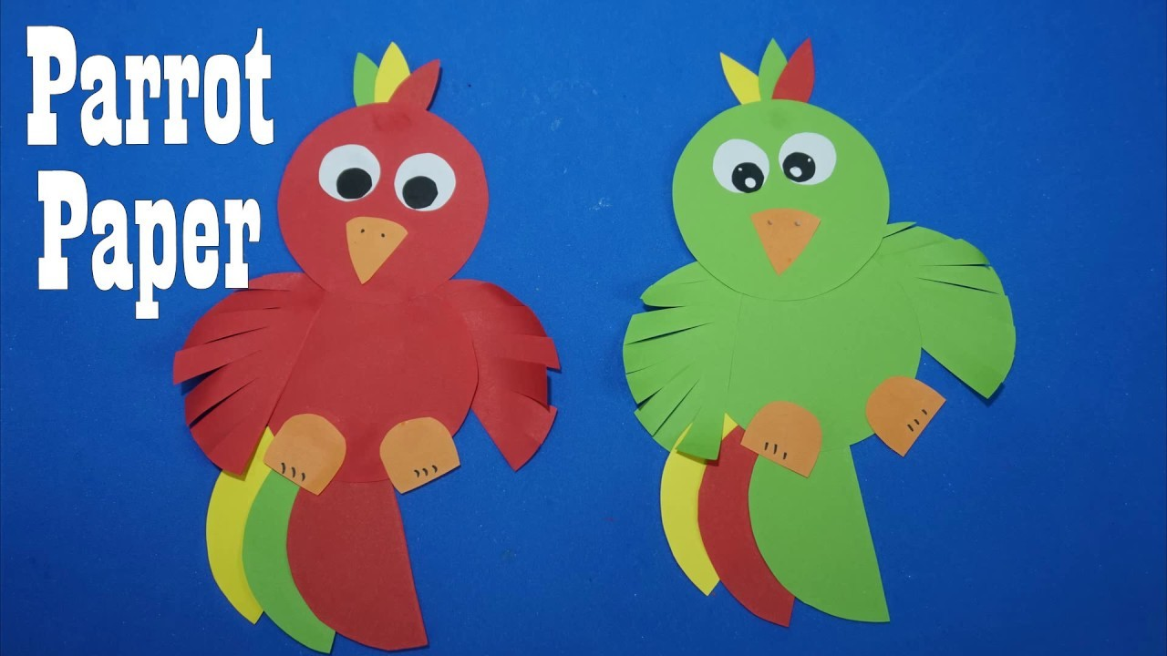 Parrot Crafts for Kids |  How to Make an parrot Easy Paper