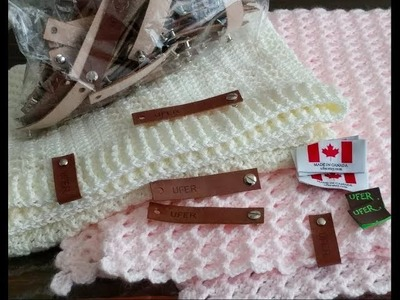 Review about Leather Tag with Rivet from Eyluldesigns #tigişi #crochet #blanket #tutorial