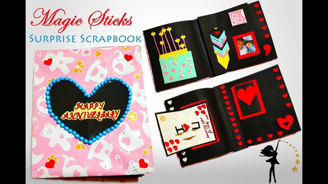 Scrapbook Ideas | Handmade | Gift for couples | Surprise Anniversary Gift | DIY  Easy Scrap Book