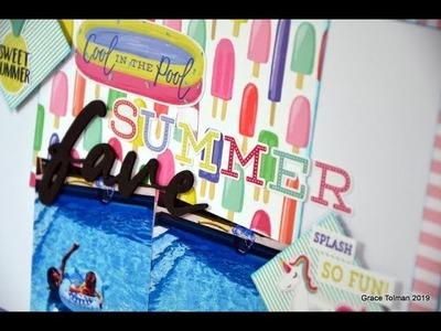 """Scrapbook Process #189 """"Summer Fave"""""""