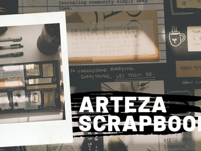 Scrapbook Review + Journal With me (Arteza gifted me!)