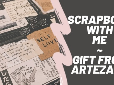 Scrapbook with me (using real paper scraps.  lol)| Arteza Scrapbook