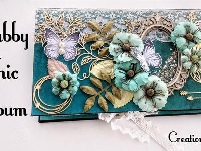 Shabby Chic Aqua Medley Scrapbook | Handmade Scrapbook Ideas