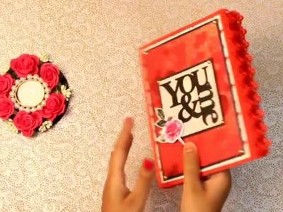 You & me scrapbook || love scrapbook || handmade scrapbook ideas