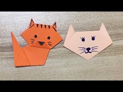 2 Origami Cute Cat   Paper Crafts for Kids