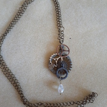 Abstract steampunk inspired necklace