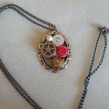 Abstract steampunk pendant