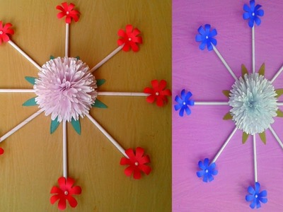 Amazing and Beautiful Paper Flower Wall hanging || DIY Wall hanging with paper || SUNIL CREATION