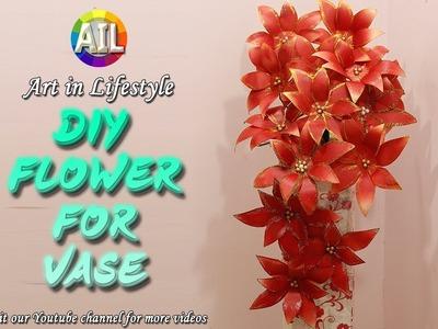 Art in Paper #DIY Flower #Easy flower making for Vase