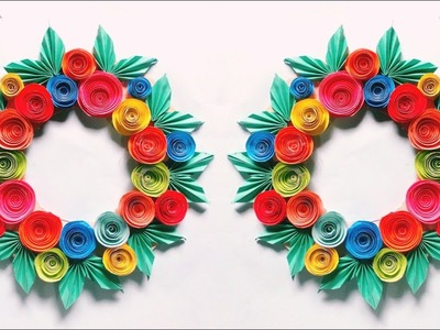 Awesome Wall Decoration Recycling Crafts Paper || Simply Room Decor || বিউটিফুল পেপার টিউটোরিয়াল