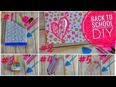Back To School | DIY | 5 cute crafts for students to do | happy krafty