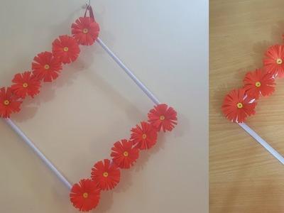Beautiful Paper flower wall hanging _ Diy paper flower wall hanging _ Easy Paper craft.