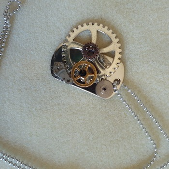 Cog and tag necklace