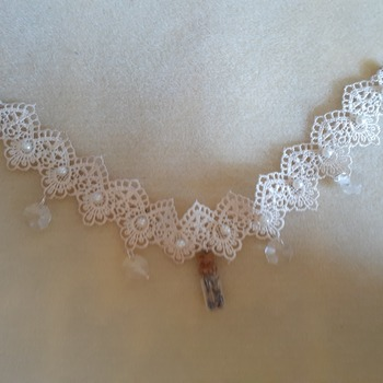 Crystal and time lace choker