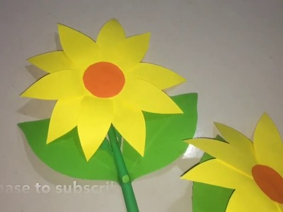 DIY: Beautiful paper sun flower to make up home decoration.