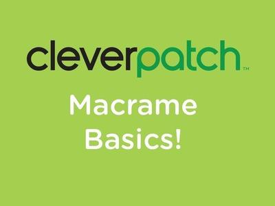 DIY.Craft Activity - Macrame Basics - Cow Hitch, Square Knot & Wrap Knot