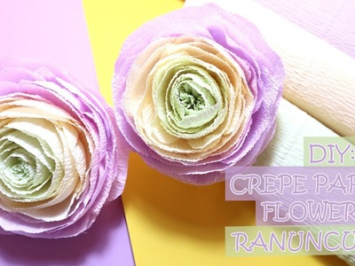 DIY: Crepe Paper Flowers - Ranunculus | How to make crepe paper flowers ranunculus