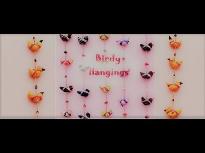 DIY Door Hangings of colourful birds.Home Decor ideas