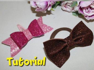 DIY.Easy.Cute Bow Hair Accessories Making.Hair pin and rubber making.