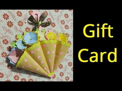 DIY Flower Gift Card With Flowers And Quilling Paper Butterfly