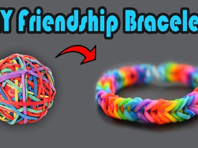 DIY Friendship Bracelets with rubber bands