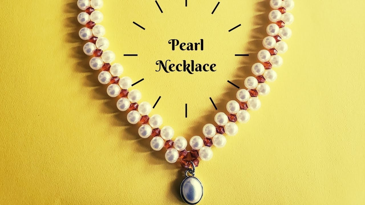 DIY   How to make Pearl Necklace  Tamil