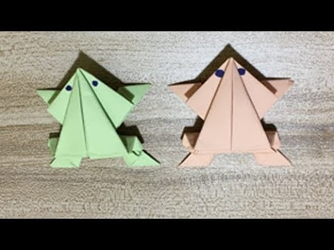 DIY Origami Jumping Frog for Kids