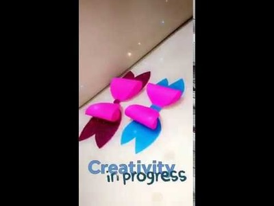 #DIY Paper Decorations   Paper Bow   Easy paper crafts   5th video