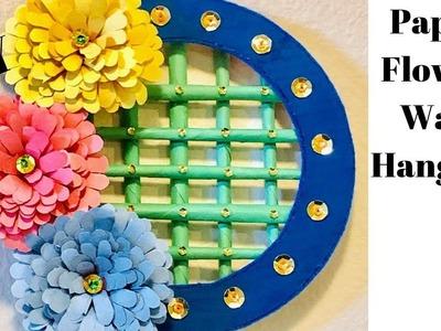 DIY | Paper flower Wall hanging | Paper Crafts | Paper Flowers | CrazeeCrafts