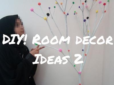 DIY ! Pom pom room decor idea| simple and cute decor idea  |