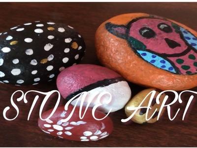 DIY STONE ART |DIY ROCK PAINTING | Stone art ideas | DIY Stone Painting Using Acrylic Paint