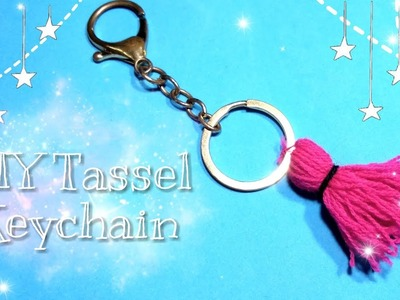 DIY Tassel Keychain.Woolen Tassel Bag Charm.Wool Keychain.School Bag Decor Ideas