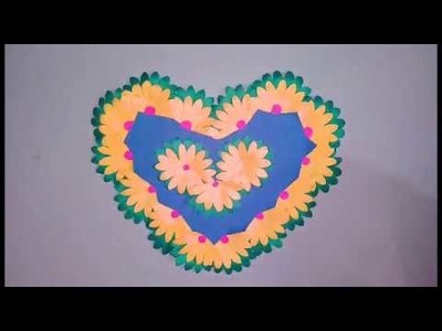 DIY Wall Decor | Paper Heart Wall Hanging | Easy Wall Decoration Ideas at Home | Paper Craft